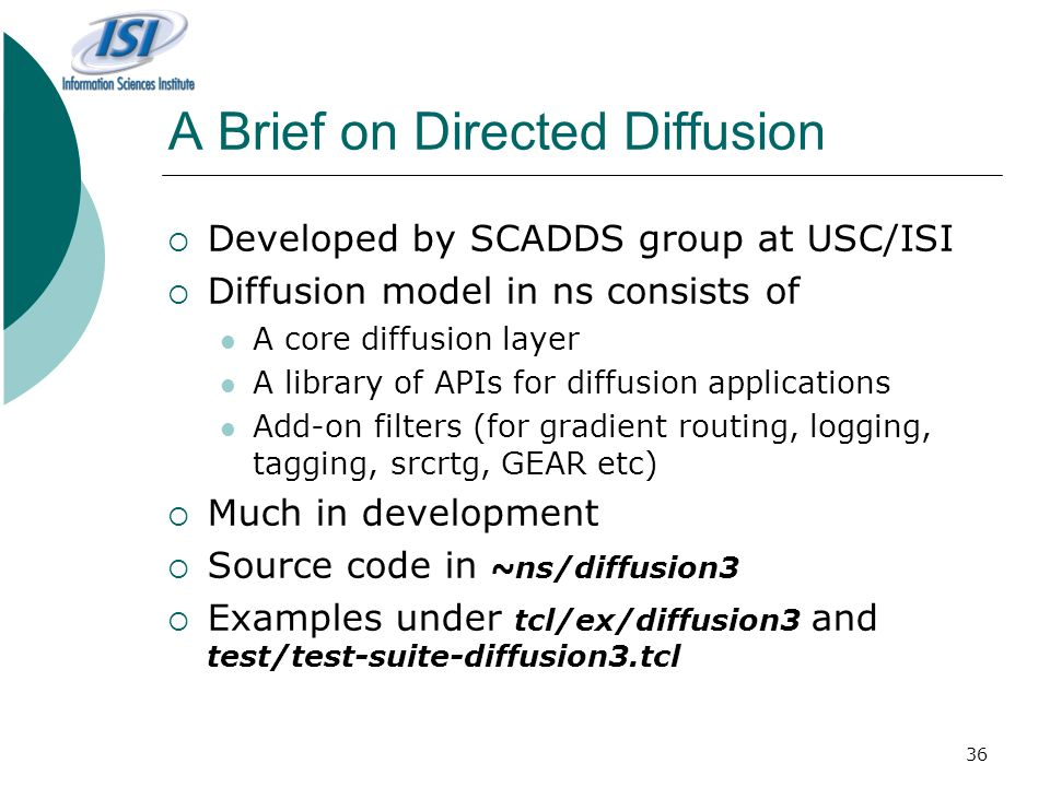 A Brief on Directed Diffusion