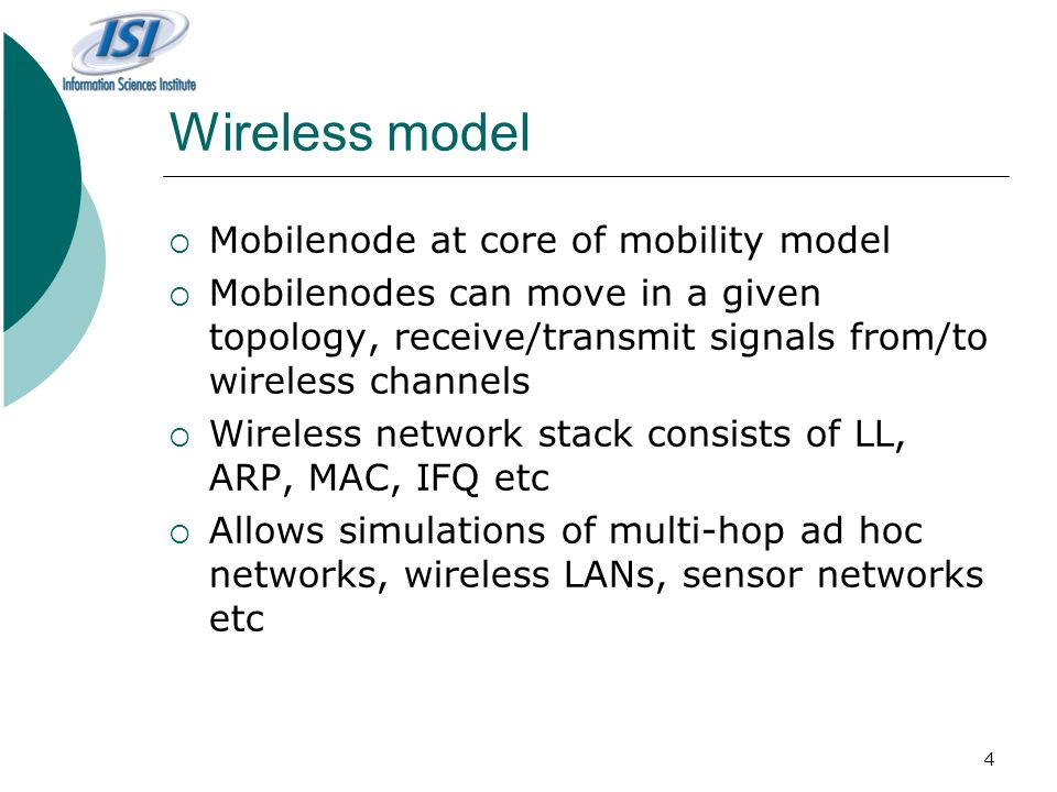 Wireless model Mobilenode at core of mobility model