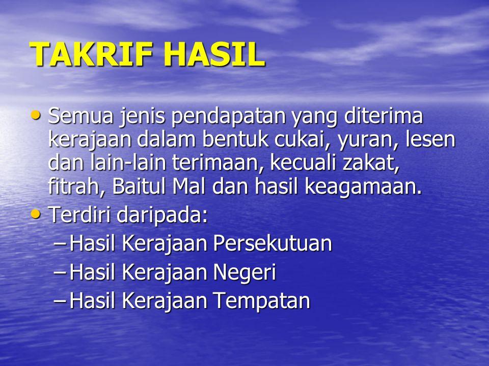 TAKRIF HASIL