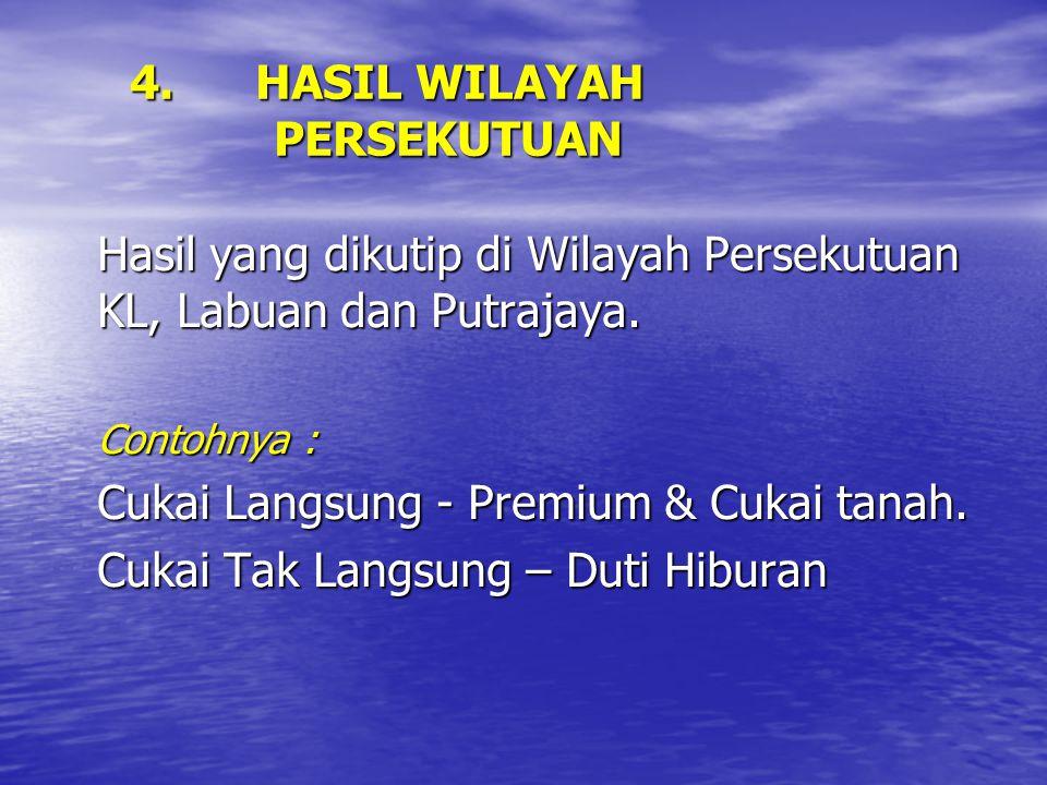 4. HASIL WILAYAH PERSEKUTUAN