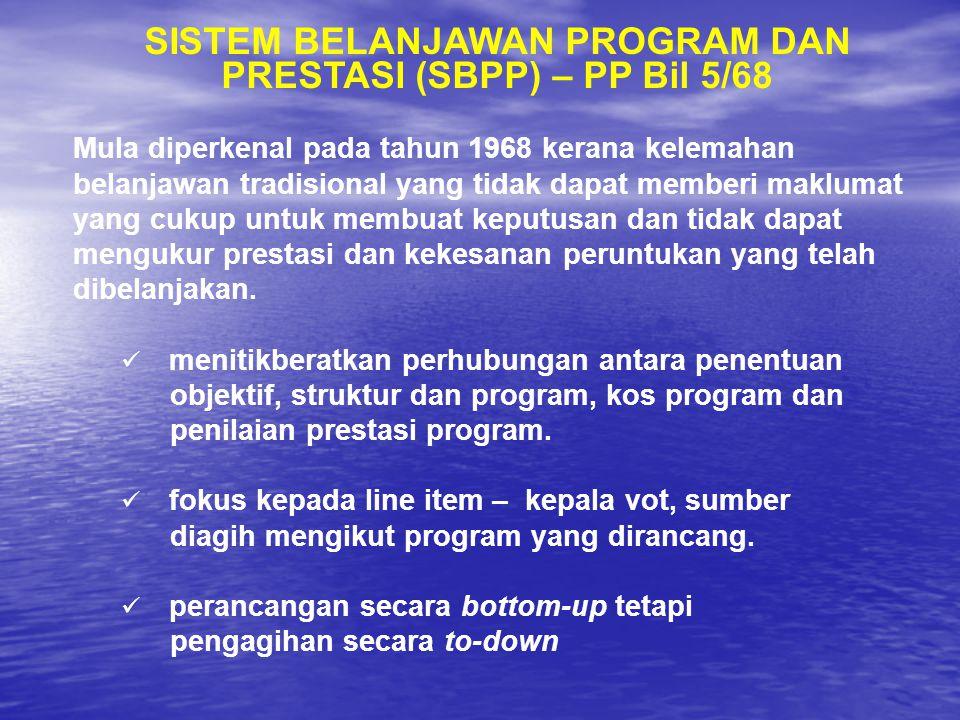 SISTEM BELANJAWAN PROGRAM DAN PRESTASI (SBPP) – PP Bil 5/68