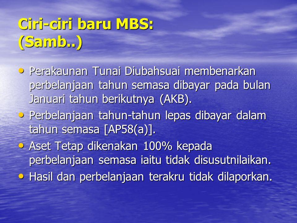 Ciri-ciri baru MBS: (Samb..)