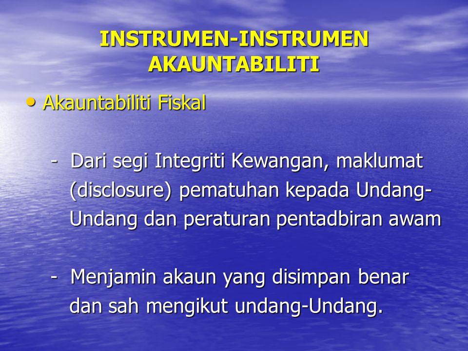 INSTRUMEN-INSTRUMEN AKAUNTABILITI