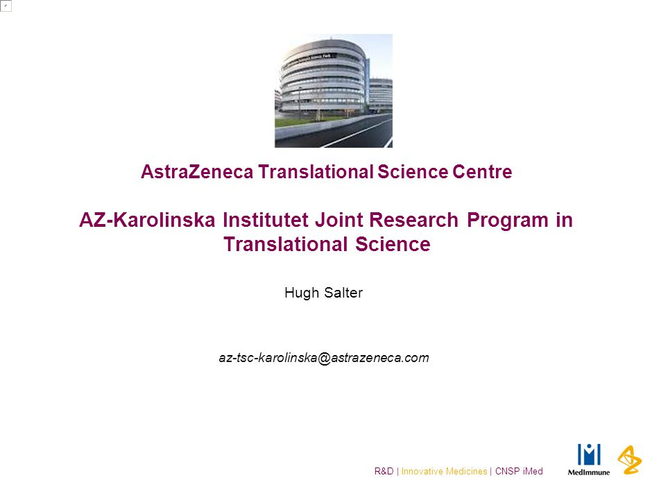 AZ Translational Science Centre @ Karolinska Institutet
