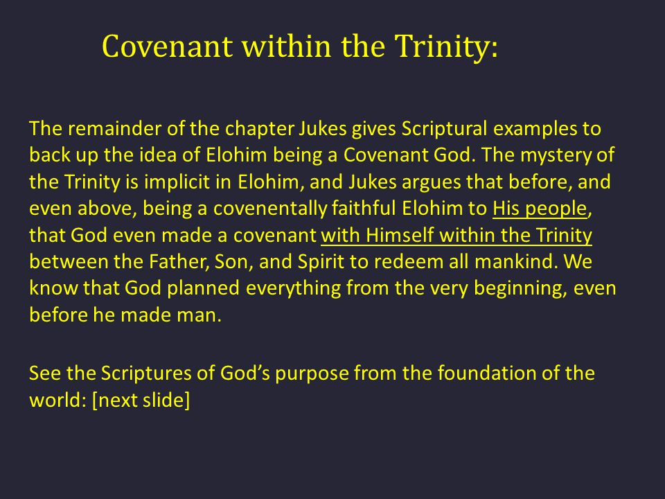 Covenant within the Trinity: