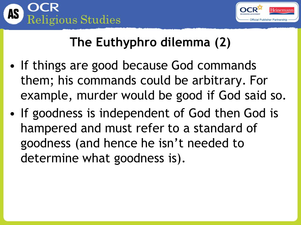 The Euthyphro dilemma (2)