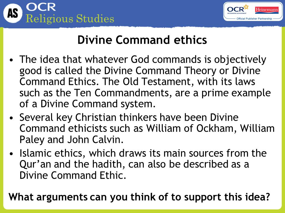 Divine Command ethics