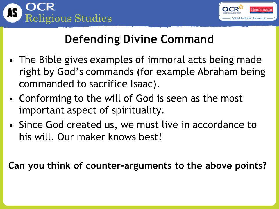 Defending Divine Command