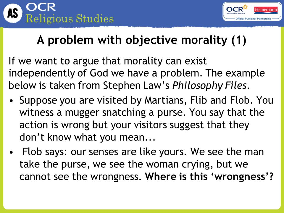 A problem with objective morality (1)