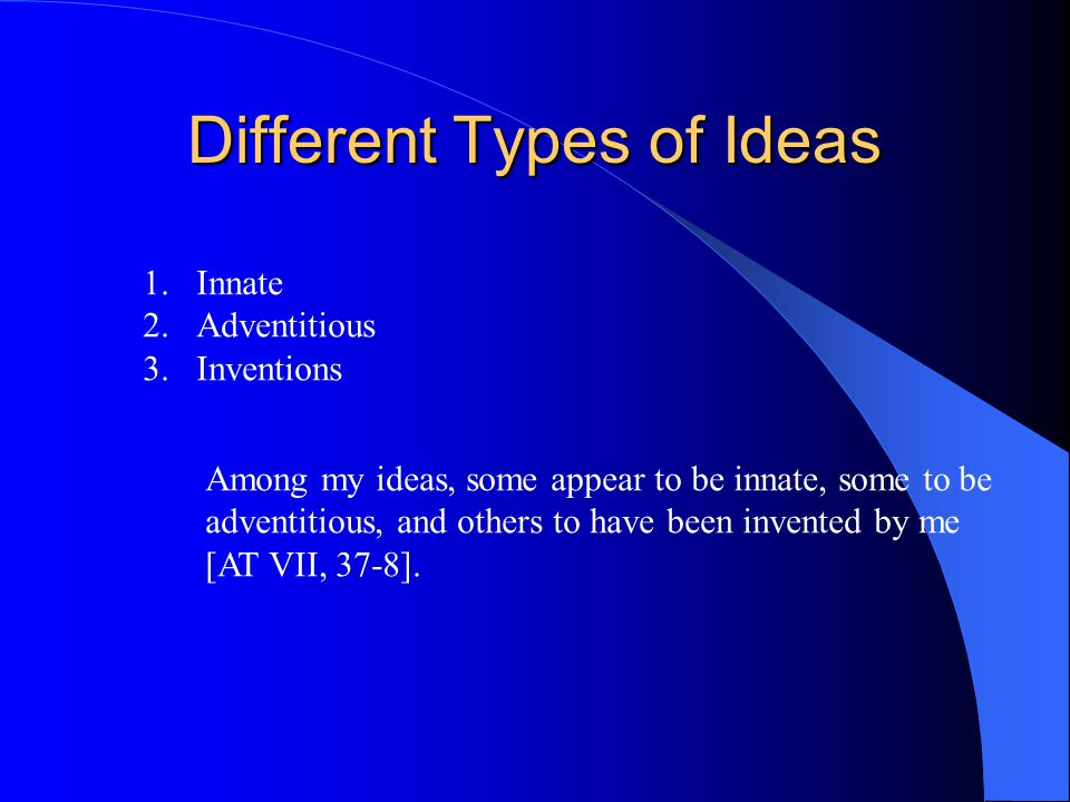Different Types of Ideas