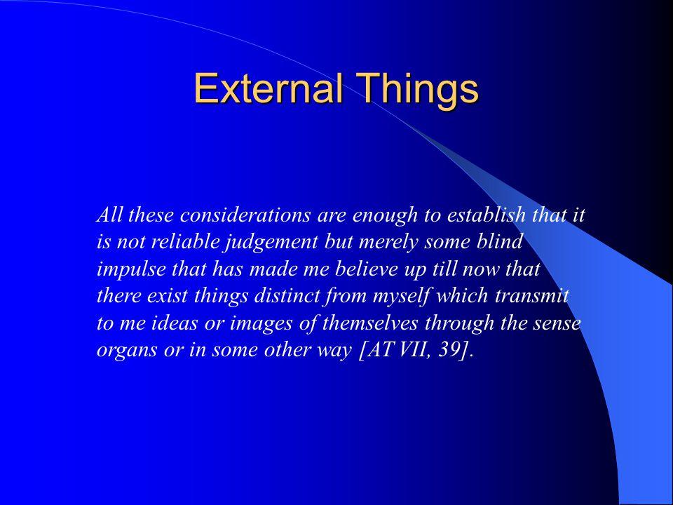 External Things