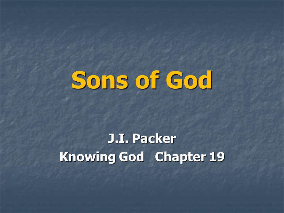 Sons of God J.I. Packer Knowing God Chapter 19