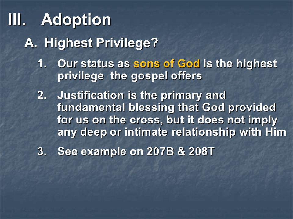 Adoption Highest Privilege