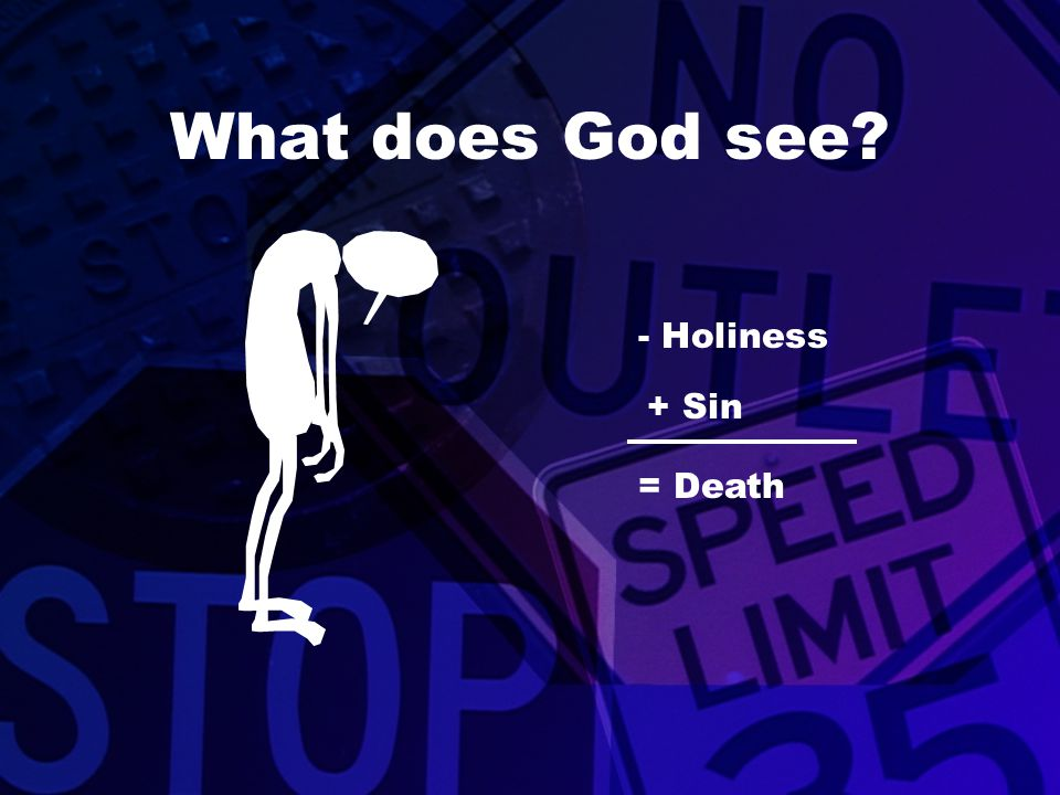 What does God see - Holiness + Sin = Death