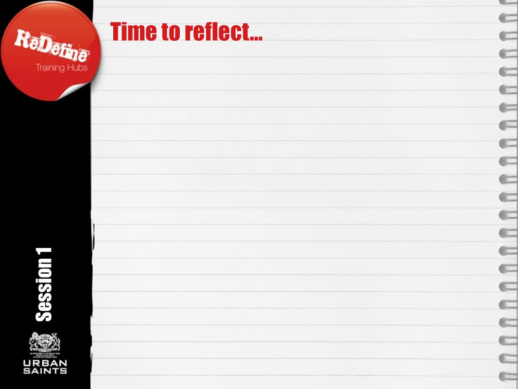 Time to reflect… Session 1