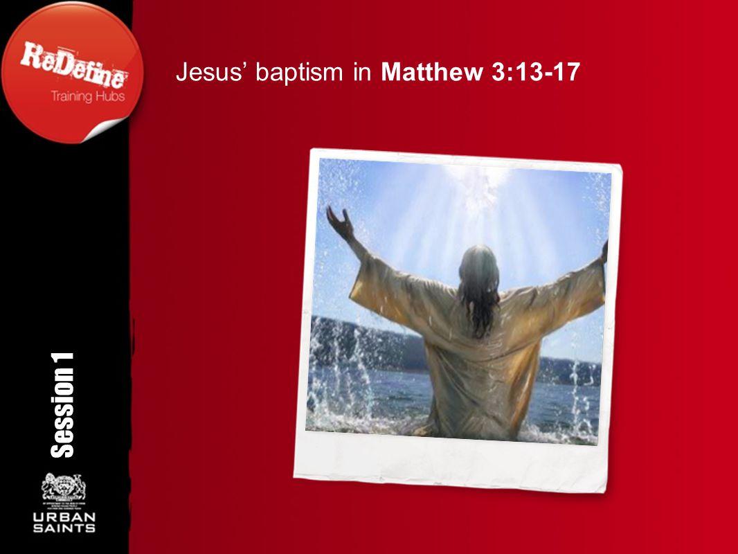Jesus' baptism in Matthew 3:13-17