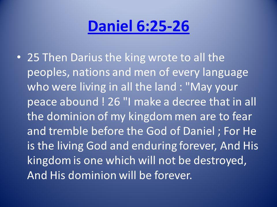 Daniel 6:25-26