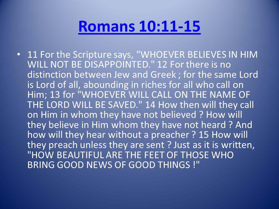 Romans 10:11-15