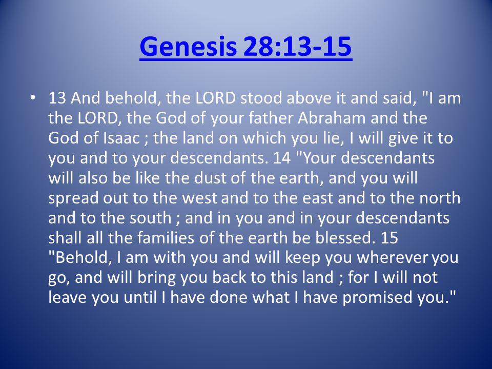 Genesis 28:13-15
