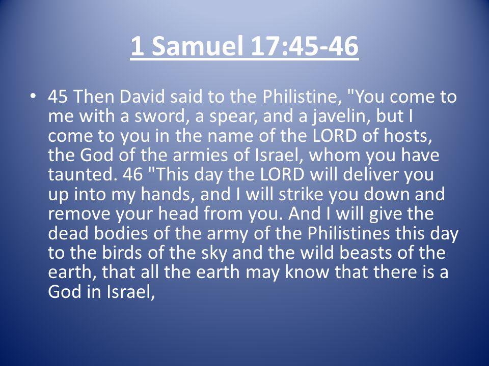 1 Samuel 17:45-46