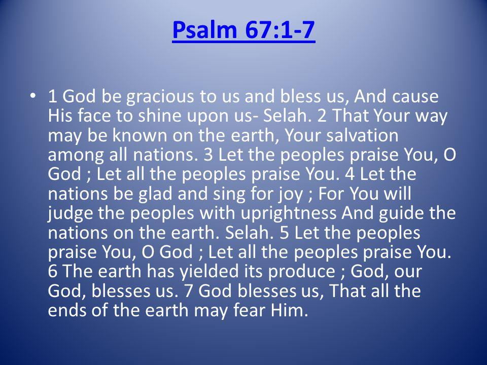 Psalm 67:1-7