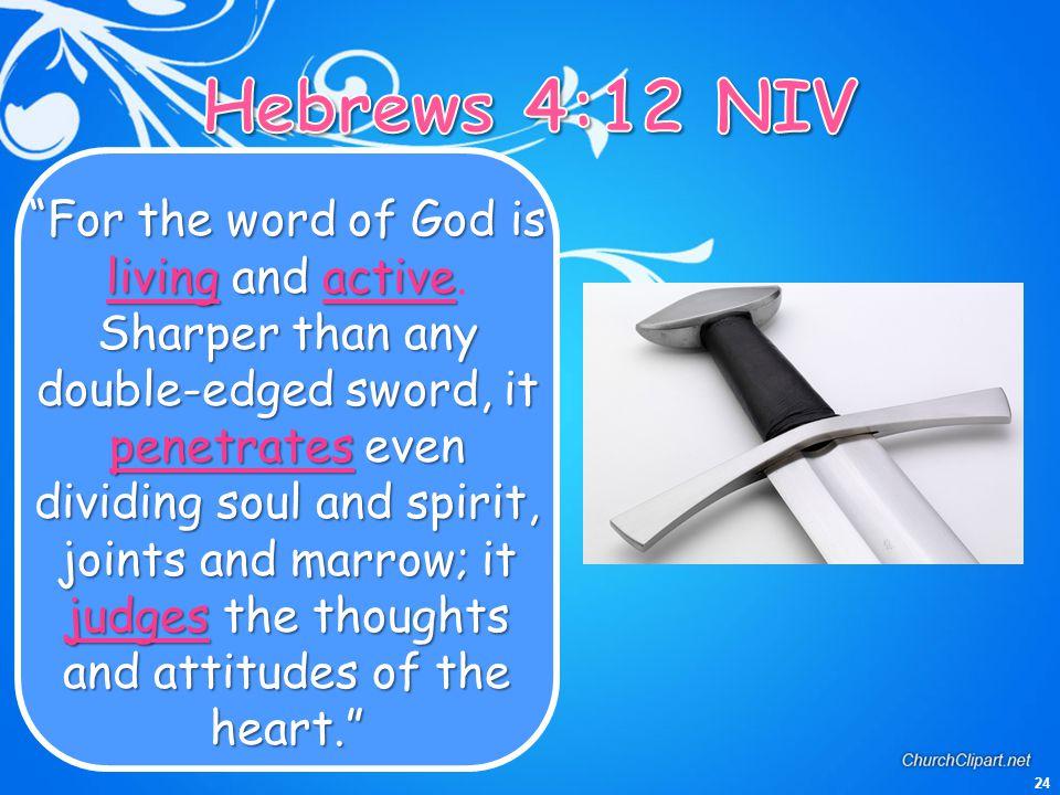 Hebrews 4:12 NIV
