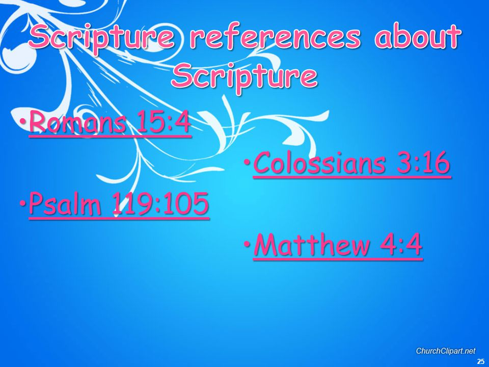 Scripture references about Scripture