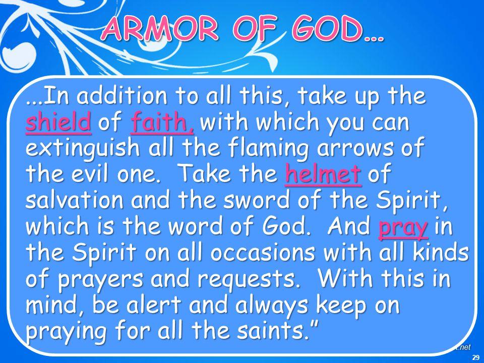 ARMOR OF GOD…