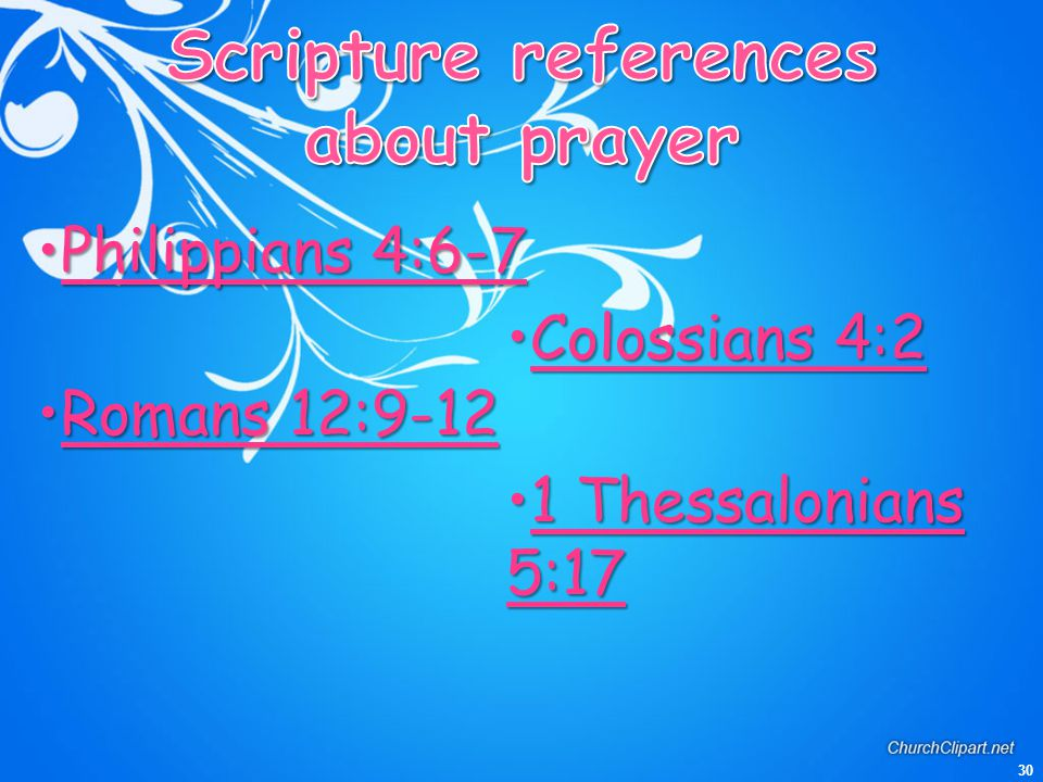 Scripture references about prayer