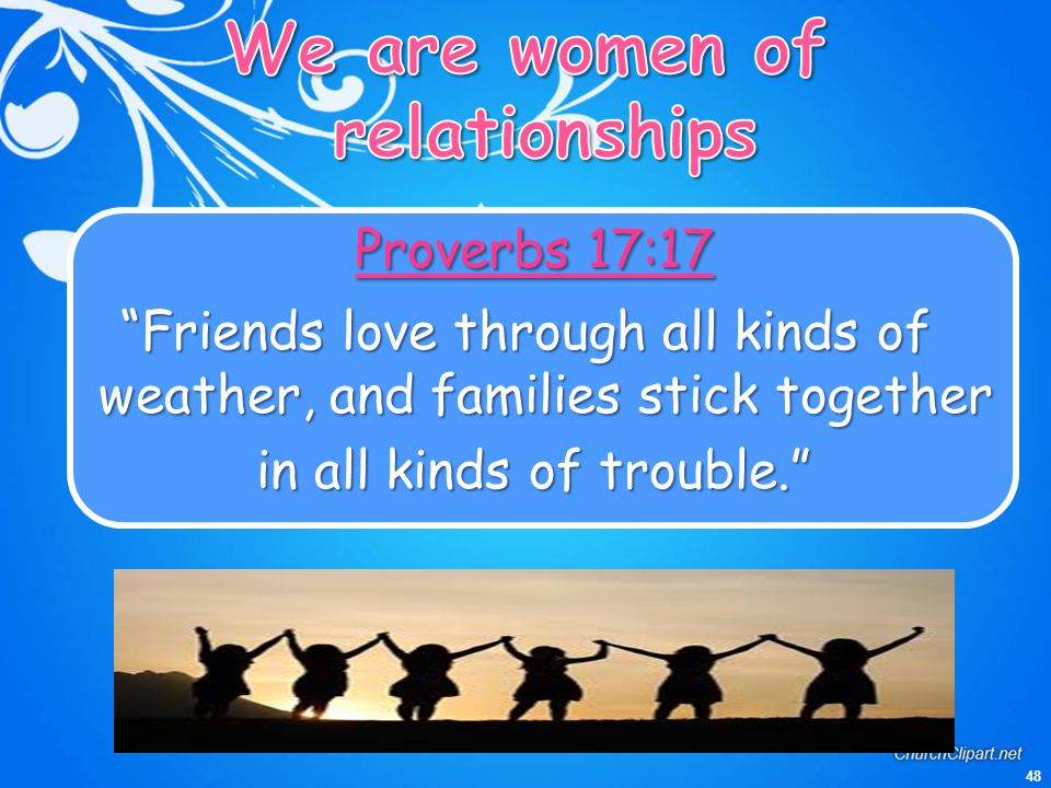We are women of relationships