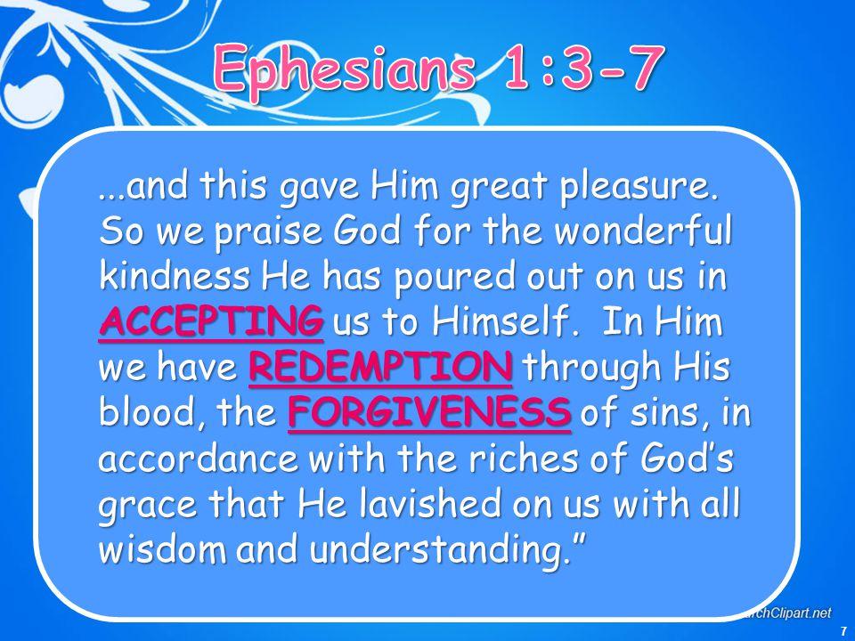 Ephesians 1:3-7