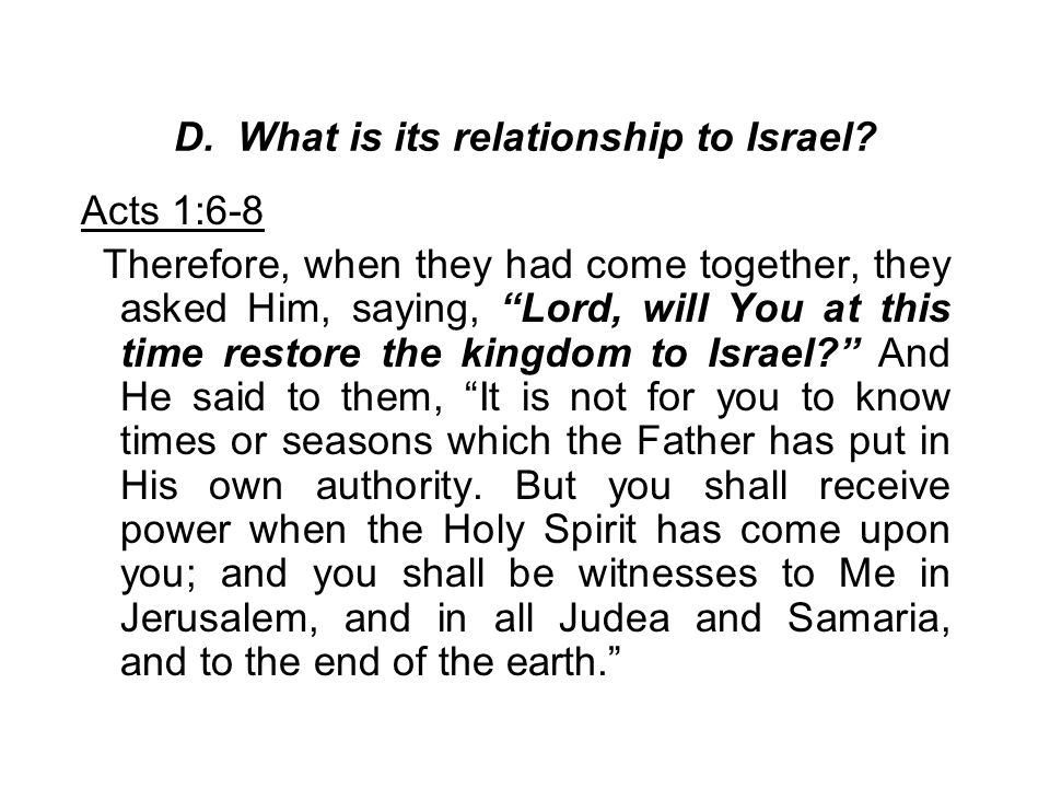 D. What is its relationship to Israel