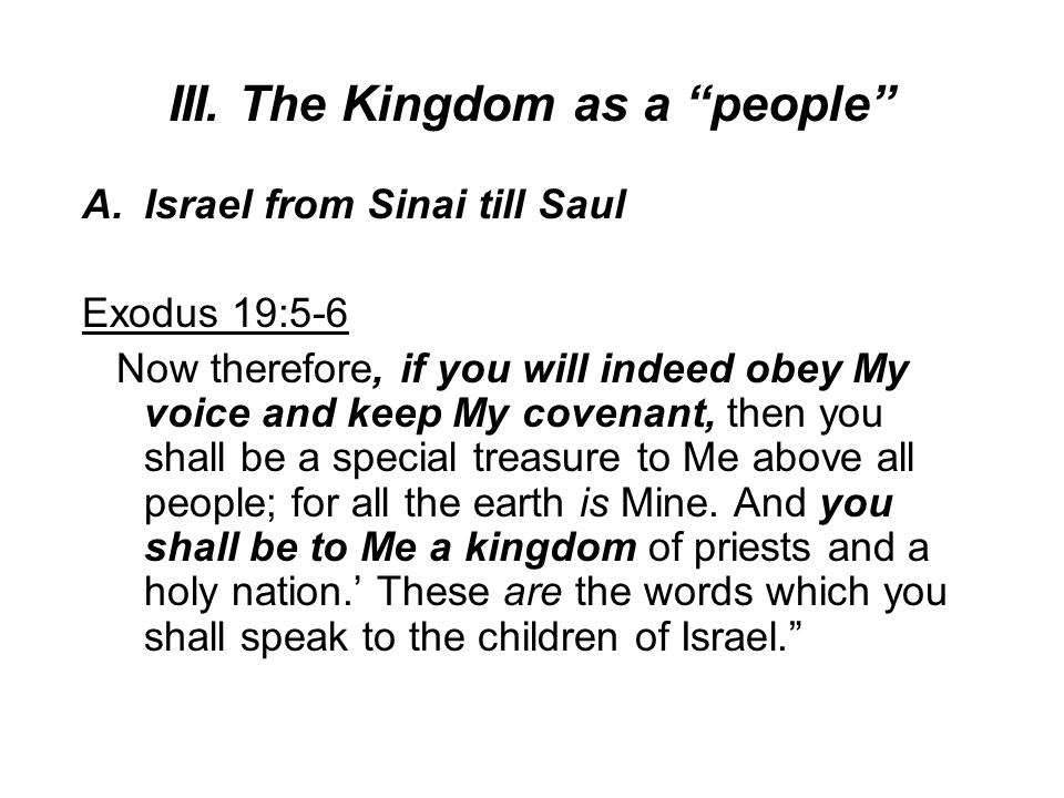 III. The Kingdom as a people