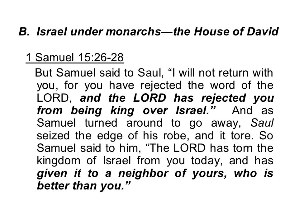 B. Israel under monarchs—the House of David