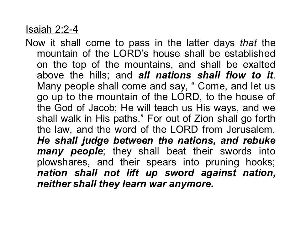 Isaiah 2:2-4