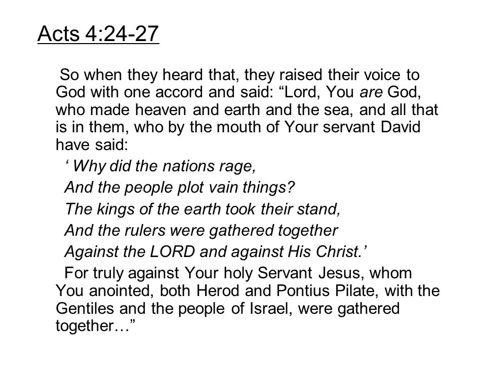 Acts 4:24-27