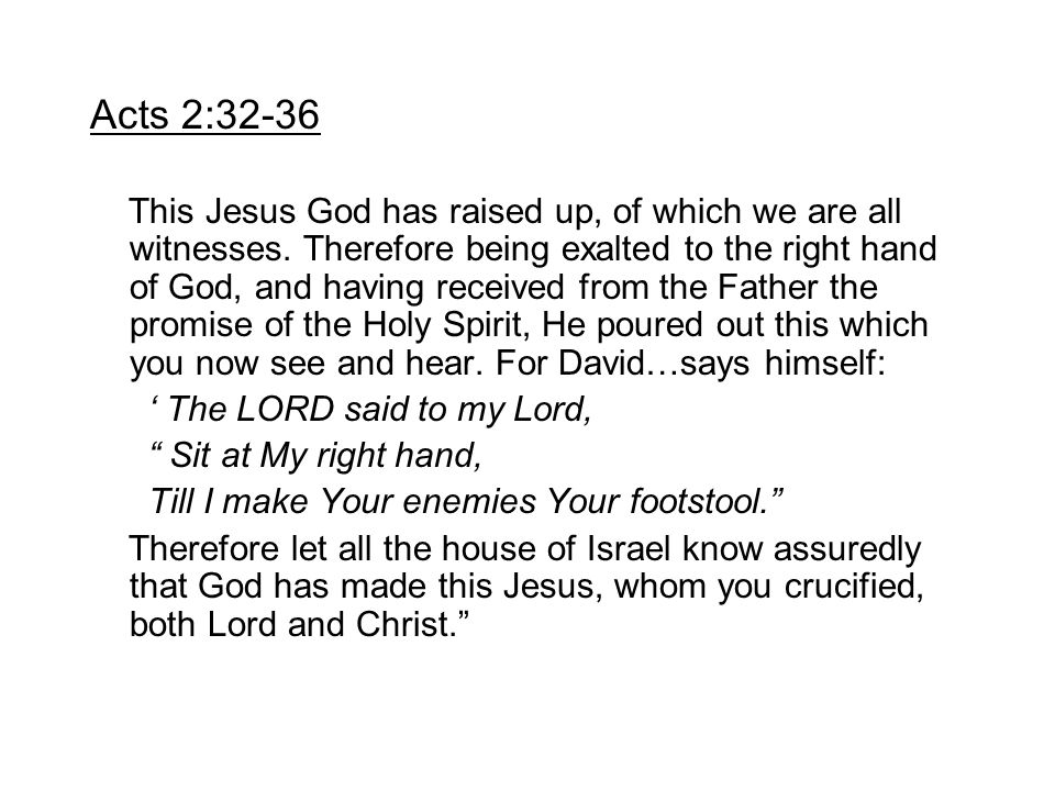 Acts 2:32-36