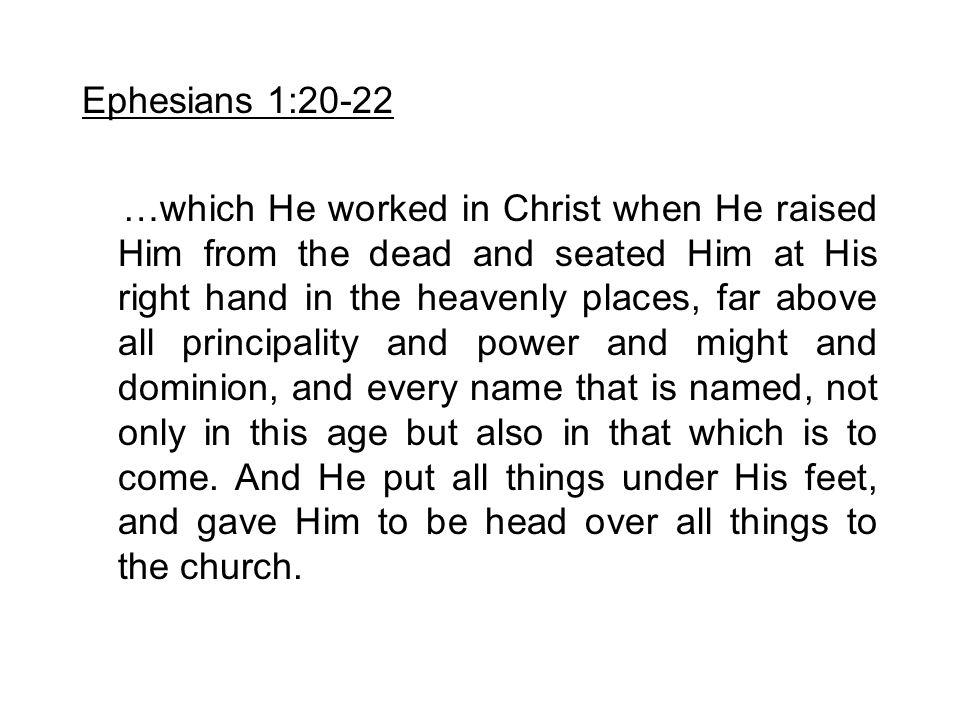 Ephesians 1:20-22