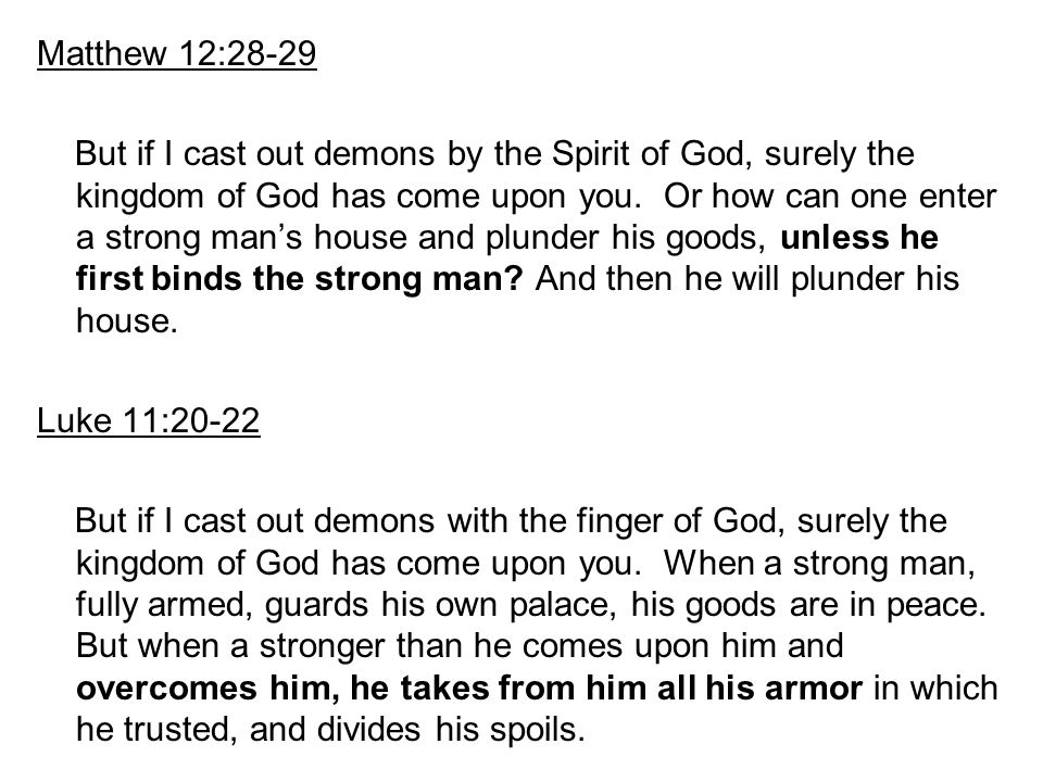 Matthew 12:28-29