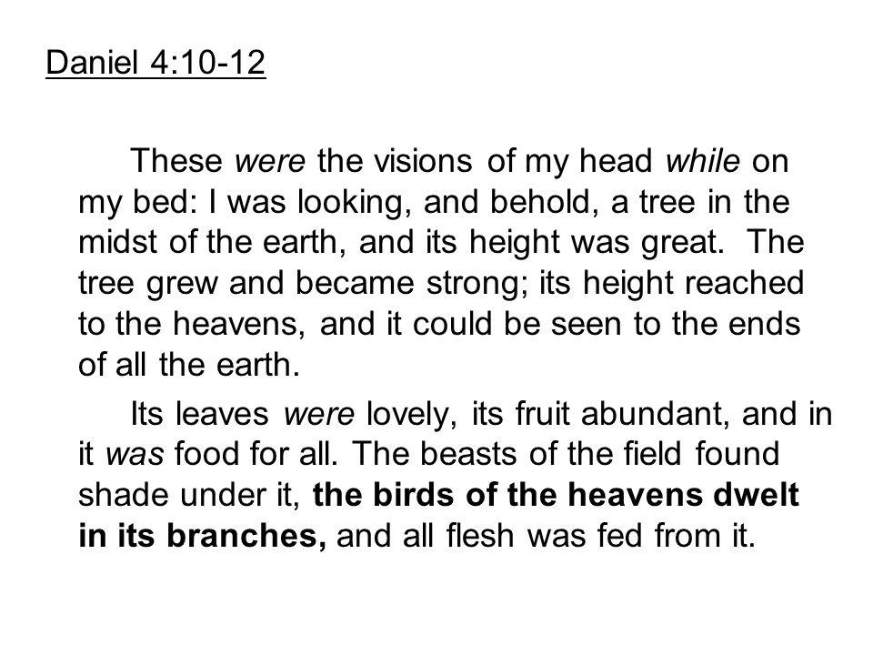 Daniel 4:10-12