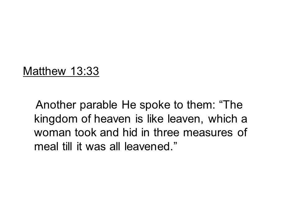 Matthew 13:33