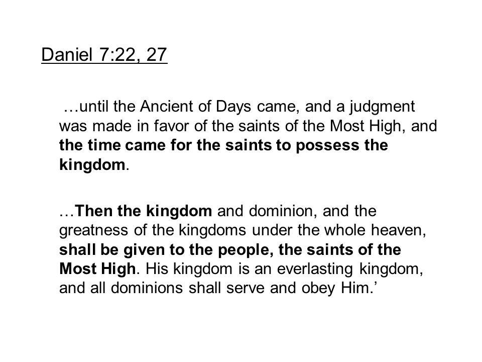 Daniel 7:22, 27