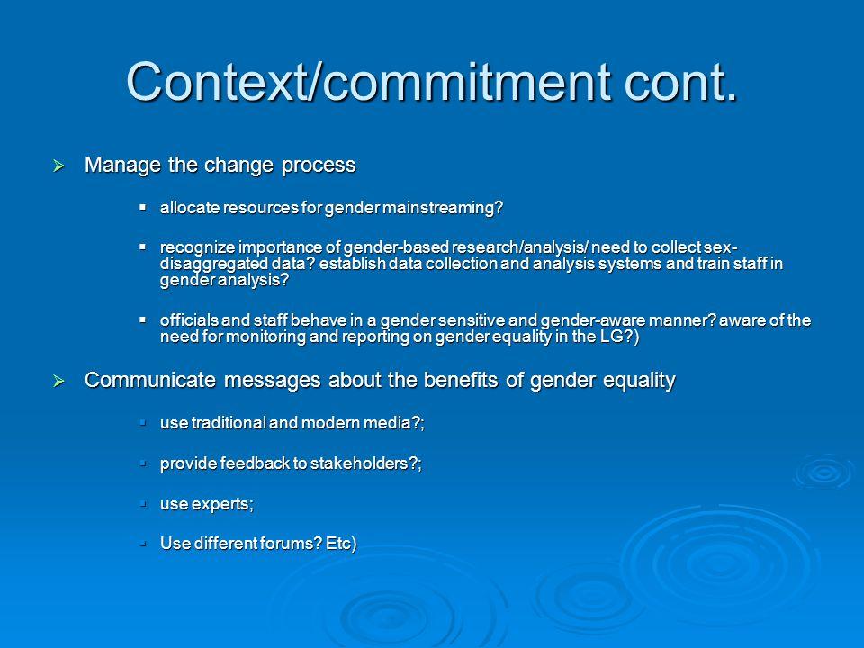 Context/commitment cont.