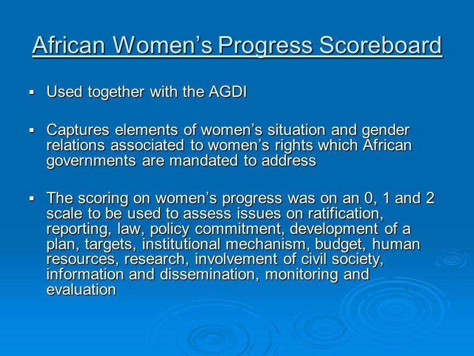 African Women's Progress Scoreboard