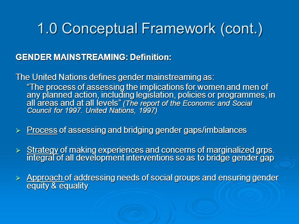 1.0 Conceptual Framework (cont.)