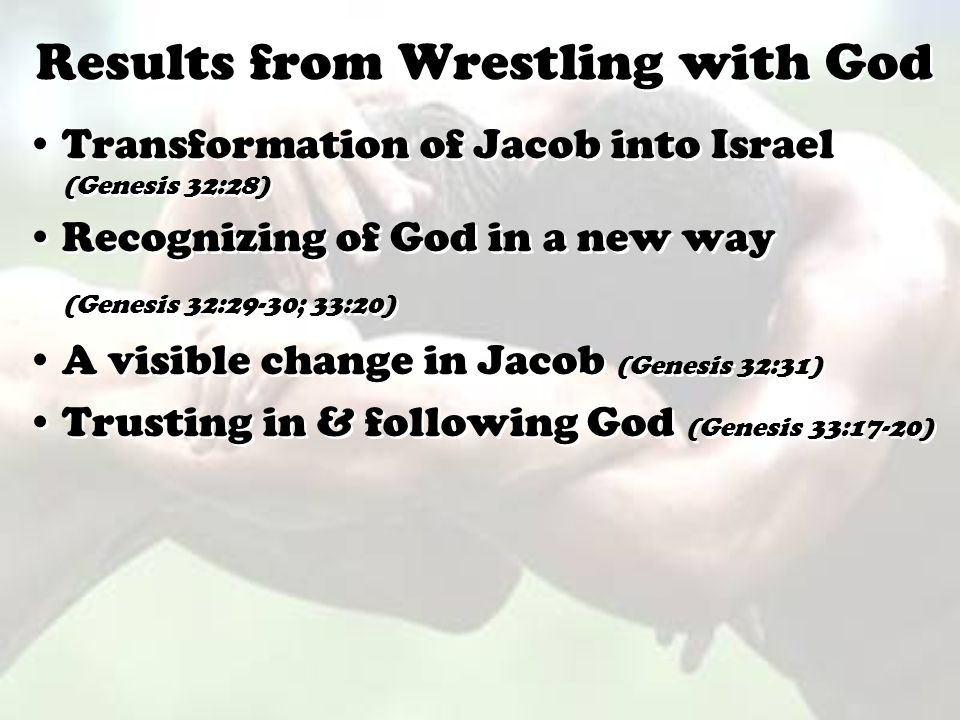 Results from Wrestling with God
