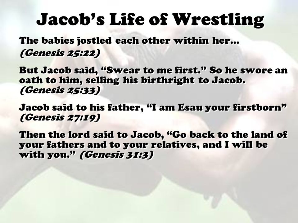 Jacob's Life of Wrestling