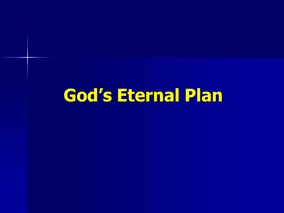 God's Eternal Plan