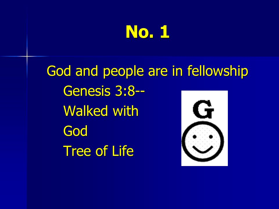God and people are in fellowship