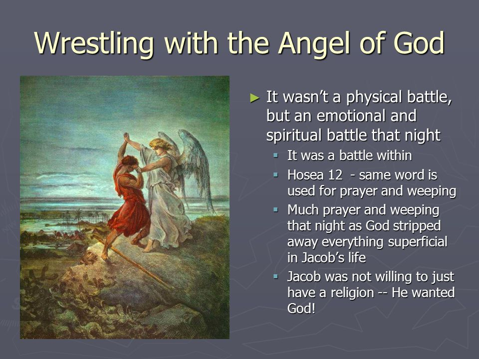 Wrestling with the Angel of God